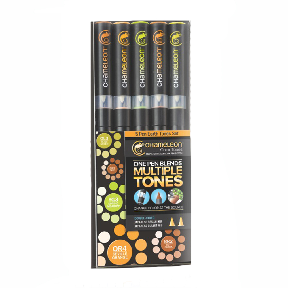 Chameleon Pens - 5 Pen Earth Tones Set