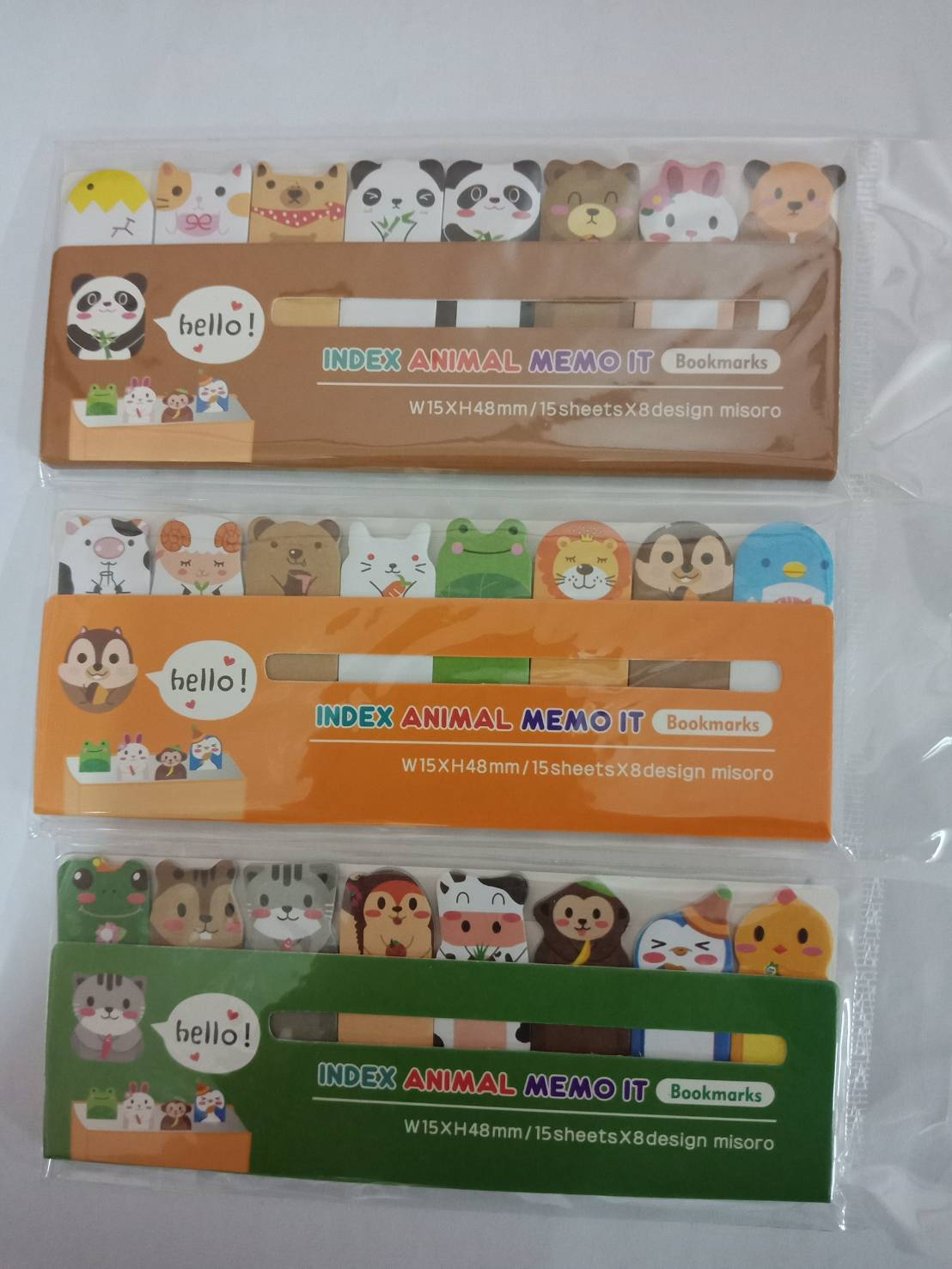 Stick Note HT1401-680 Index Animal Memo It Bookmarks ขนาด 53x14 mm คละลาย